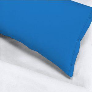 Coppia federe per guanciale 52x83 con bottoncini 100% puro cotone colore Bianco