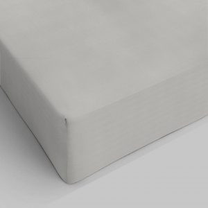 Lenzuolo sotto con Angoli Elasticizzati 100% Puro Cotone Color Tortora