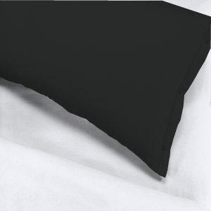 Coppia federe per guanciale 52x83 con bottoncini 100% puro cotone colore Verde
