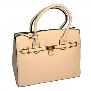 Borsa a mano con tracolla elegante shopper moda mod.105 Panna
