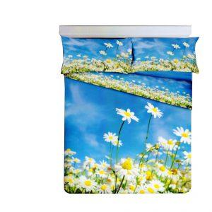 Parure Copripiumino 100% puro cotone stampa digitale mod. Margherite