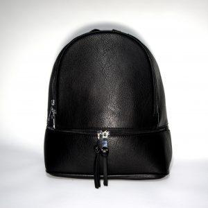 Borsa donna a zainetto, zaino con bretelle e tracolla per uso a borsa mod.371a Rosso