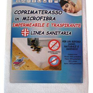 Coprimaterasso in Microfibra Impermeabile Matrimoniale Due piazze 180x200