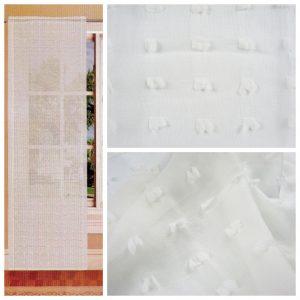 Tende coppia di tende per finestra portafinestra in velo leggero natural mod. 1BESINED