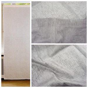 Tende coppia di tende per finestra portafinestra in velo leggero grigio mod. 1LOC1MERUAL