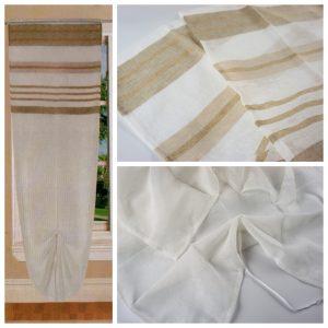 Tende coppia di tende per finestra portafinestra in velo leggero beige mod. B3AACISUAN