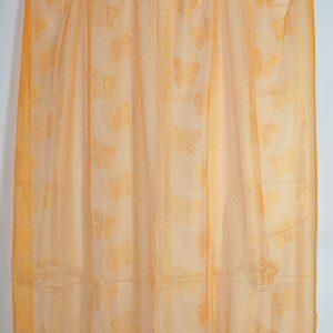 Zanzariera tenda per finestra con anelli tinta unita arancio
