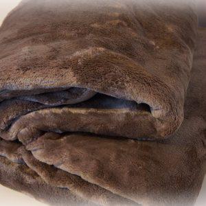 Plaid Aro coperta in morbida e calda microfibra per divano o letto una piazza singola 160x210 marrone