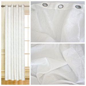 Coppia Tende Tendaggio con Occhielli Tessuto coprente bianco MOD. 1LOC1SYLLOD