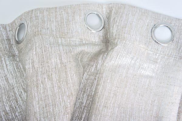 Coppia Tende Tendaggio con Occhielli Tessuto spalmato argento MOD. 3LOC1BAIZERCUL