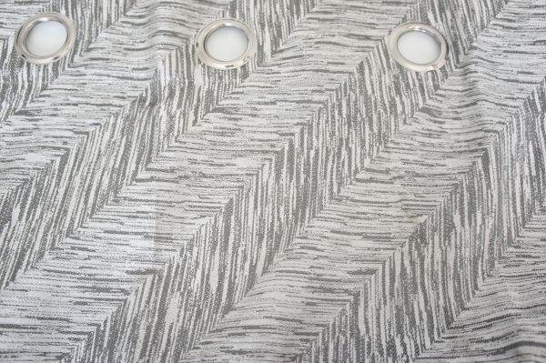 Coppia Tende Tendaggio con Occhielli Tessuto Coprente Grigio MOD. OIGIRG1RYLF