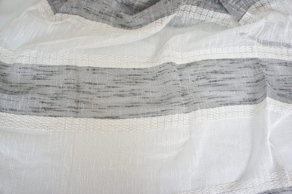 Coppia Tende Tendaggio con Occhielli Tessuto Bouclè rigato grigio MOD. 2LOC3BADNALOJ